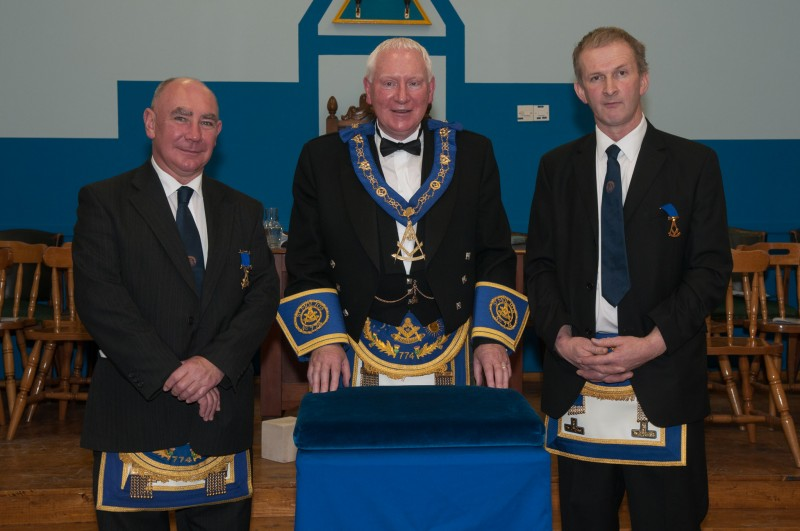 Lodge St Molios No 774 RWM Andy Martin with his installing masters