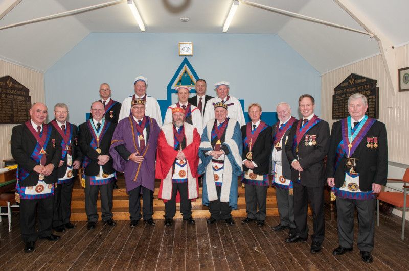 Office Bearers of Arran St Molios Royal Arch Chapter No 893 at annual installation meeting
