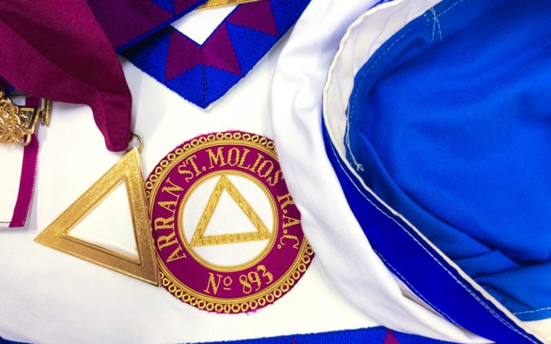 3rd Sojourner's Regalia of Arran St Molios Royal Arch Chapter No 893
