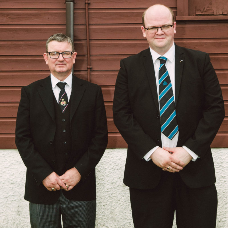 John and Paul McIlroy, PZ and candidate for Royal Arch Degree