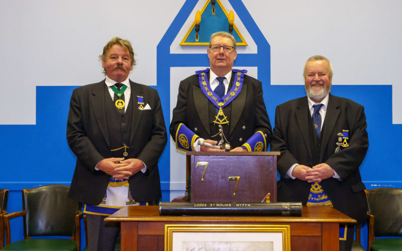 John Murchie with his two installing masters